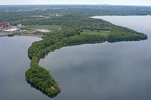 UW Lakeshore Preserve, photo by William Cronon