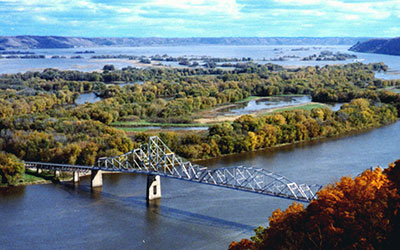 Upper Mississippi River, photo by USFWS
