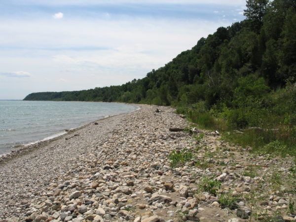 Lake Michigan shoreline at Warnimont & Grant Parks